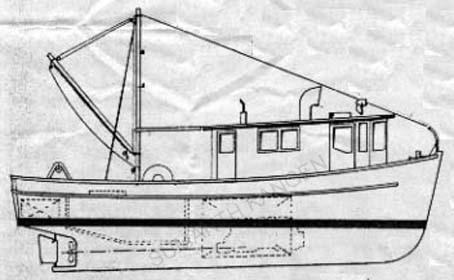 41' Trawler Drawing