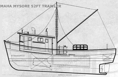 52' Trawler Drawing